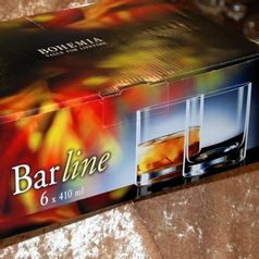Barline 410 ml, Glass / whisky, 6 pcs., Crystalex