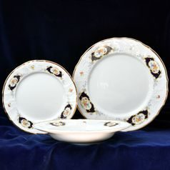 Plate set for 6 pers., Thun 1794 Carlsbad porcelain, Bernadotte Arms