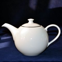 Olga: Pot tea Sone 1,8 l with black line, Cesky porcelan a.s.