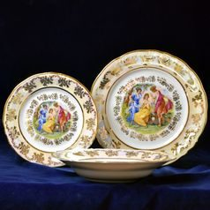 Plate set for 6 pers., Frederyka, The Three Graces, Frederyka Carlsbad