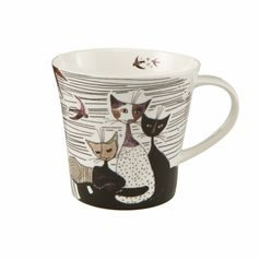 Artist Mug Carota con amici 9,5 cm / 0,35 l, Porcelain, Cats Goebel R. Wachtmeister