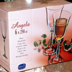 Angela 250 ml, Glass / wine, 6 pcs., Bohemia Crystalex