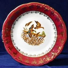 Dish round deep 32 cm, Hunting, Carlsbad porcelain