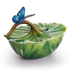 Covered box Rainforest Little Dwellers butterfly 10 cm, porcelain FRANZ