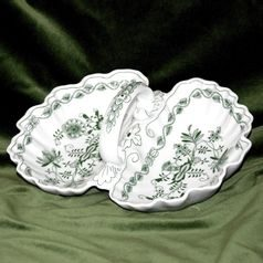 2-Compartment dish 28 cm, Green Onion Pattern, Cesky porcelan a.s.