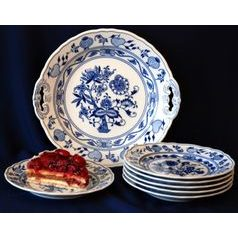 Cake set for 6 pers., Original Blue Onion Pattern