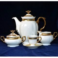 Coffee (mocca) set for 6 pers., Thun 1794 Carlsbad porcelain,Marie Louise 88003
