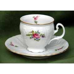 Coffee cup and saucer 150 ml / 14 cm, Thun 1794 Carlsbad porcelain