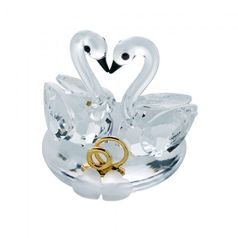 Nuptial Swan 40 x 35 mm, Crystal Gifts and Decoration PRECIOSA