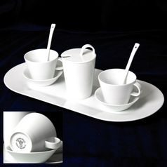 Bohemia White, Friendly set for 2 pers., Pelcl design, Cesky porcelan a.s.