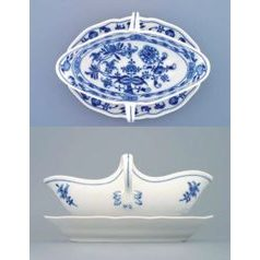 Sauceboat oval with stand 0,55 l, Original Blue Onion Pattern