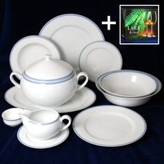 Dining set for 6 persons, Thun 1794 Carlsbad porcelain, OPAL 80136