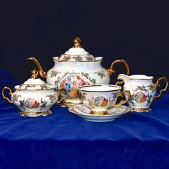 Tea set for 6 pers., The Three Graces  plus  gold, Frederyka Carlsbad