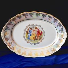 Dish oval 39 cm, The Three Graces  plus  gold, Frederyka Carlsbad