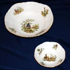 Compot set for 6 persons, Thun 1794 Carlsbad porcelain, BERNADOTTE Hunting
