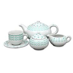 Tea set for 6 pers., Thun 1794 Carlsbad porcelain, Opal 80519