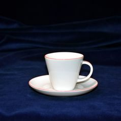 Šálek 90 ml (espresso)  plus  podšálek 135 mm, Thun 1794, karlovarský porcelán, TOM 29965