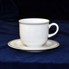Cup 230 ml  plus  saucer 155 mm, Thun 1794 Carlsbad porcelain, OPAL 80446