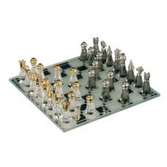Small Chess Set 33 x 105 mm, Crystal Gifts and Decoration PRECIOSA