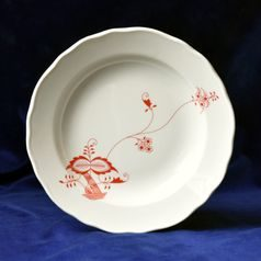Plate deep 24 cm, Red Onion Pattern ECO on ivory, Cesky porcelan a.s.