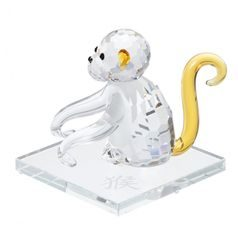 Monkey (Chinese Zodiac) 50 x 52 mm, Crystal Gifts and Decoration PRECIOSA