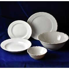 Dining set 25 pcs., Opera white, Cesky porcelan a.s.