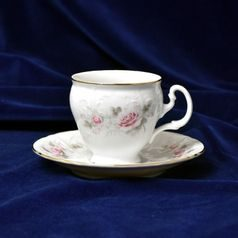 Cup coffee and saucer 150 ml / 14 cm, Thun 1794 Carlsbad porcelain, BERNADOTTE 5396011
