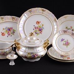 656: Dining set for 6 persons, Sonata, flowers, Leander 1907