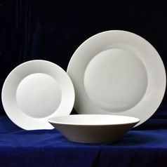 Plate set for 6 pers., Lea white, Thun 1794 Carlsbad porcelain