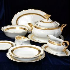 Dining set for 6 pers., Thun 1794 Carlsbad porcelain,Marie Louise 88003
