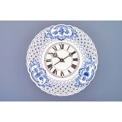 Clock perforated 27 cm, Original Blue Onion Pattern