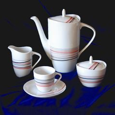 Coffee set for 6 persons, Thun 1794 Carlsbad porcelain, SYLVIE 80382