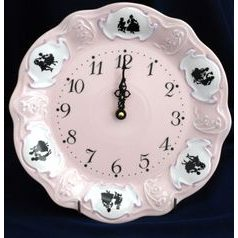Clock 25 cm wall, Olga 418, Rose China