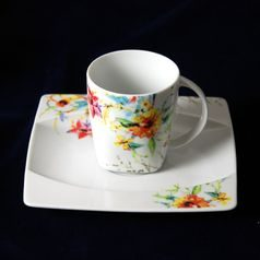 Coffee cup and saucer 150 ml / 15,5 cm, Thun 1794 Carlsbad porcelain, EYE 30308