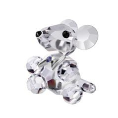 Lucky mouse, 20 x 20 mm, Crystal Gifts and Decoration PRECIOSA