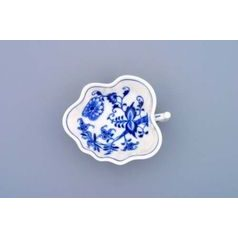 Leaf sugar bowl 14 cm, Original Blue Onion Pattern