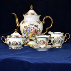 Coffee set for 6 pers., The Three Graces  plus  gold, Frederyka Carlsbad