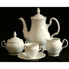 Coffee set for 6 persons, Thun 1794 Carlsbad porcelain, Bernadotte ivory