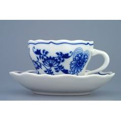 Cup and saucer A/1 plus A/1 0,12 l / 13 cm for coffee, Original Blue Onion Pattern