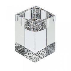 Candle holder medium  - cheetah 80 x 50 mm, Crystal Gifts and Decoration  PRECIOSA