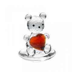 Bear with Heart 45 x 35 mm, Crystal Gifts and Decoration PRECIOSA