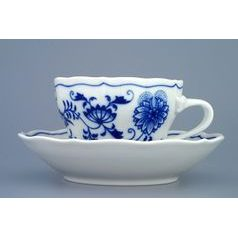 Cup and saucer C plus C 0,25 l / 15,5 cm for tea, Original Blue Onion Pattern