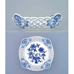 Bowl square perforated 17 cm, Original Blue Onion Pattern