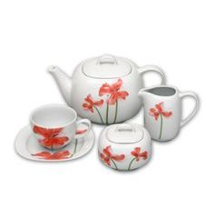 Tea set for 6 persons, Thun 1794 Carlsbad porcelain, LEON 29791