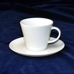 Tea / coffee cup and saucer 220 ml, Thun 1794 Carlsbad porcelain, TOM white