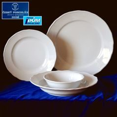 Plate set with bowls for 6 persons, White, Cesky porcelan a.s.