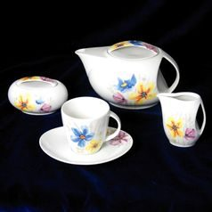 30285: Tea set for 6 persons, Thun 1794 Carlsbad porcelain, Loos