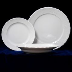 Plate set for 6 persons, 26 cm dining plate, Opera white, Cesky porcelan a.s.