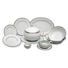 Dining set for 6 persons, Thun 1794 Carlsbad porcelain, OPAL 84032
