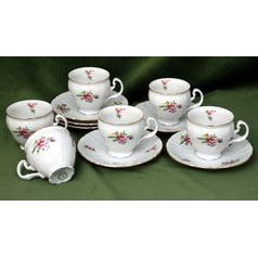 Coffee cup and saucer 150 ml / 14 cm - 6 pcs., Thun 1794 Carlsbad porcelain